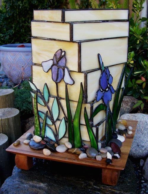 Glass garden lantern