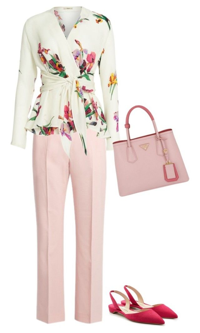 feminine style personality by kristi-gooden on Polyvore featuring Etro, Altuzarra, Paul Andrew and Prada