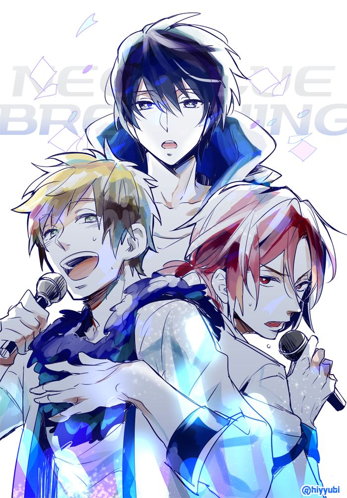 Free! - Haruka, Makoto, Rin v(^_^v)♪