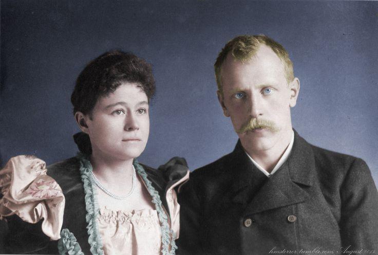 Fritdtjof and Eva Nansen in Great Britain, 1897Original