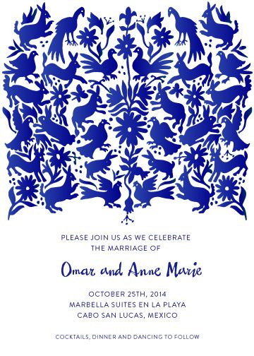 Otomi by Paper Monkey Press Now available on Minted! http://www.minted.com/product/wedding-invitations/MIN-DRZ-INV/otomi