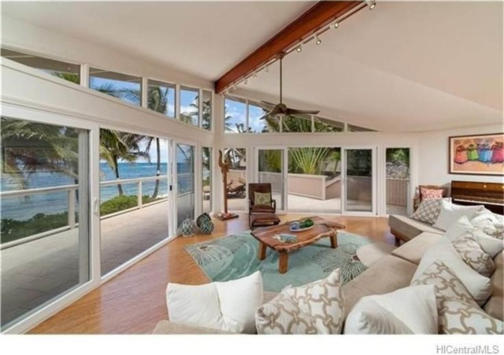 Best Kept Secret of white sand beach estate in North Shore, Oahu at Mokuleia! Private gated immaculate dream home with magnificent ocean view. Amazing open gourmet kitchen, great master suite. Enjoy daily sunset, surfing, snorkeling and retreat with 2012 exquisite designed and remodeled 5+ bedrooms(can configure as 7 bedroom) home!