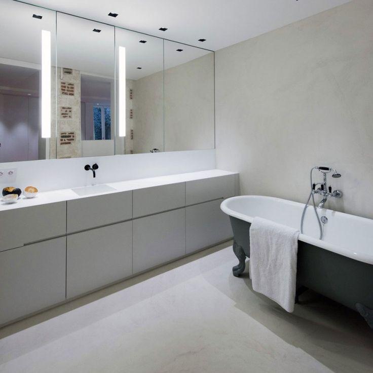 163 besten Bad Bilder auf Pinterest Badezimmer, Halbes - badezimmer steinwand