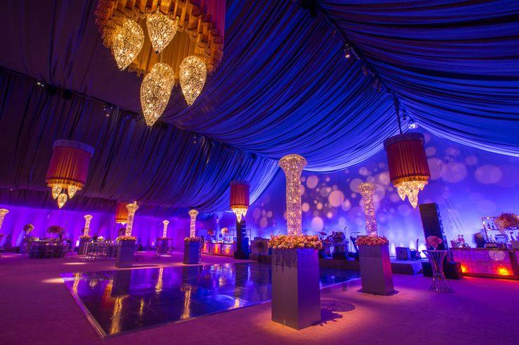 San Francisco Symphony Opening Night Gala 2014 - Lighting Design by Got Light, tent lighting, drape, purple, blue, chandelier, custom chandelier, chandeliers, Blueprint Studios