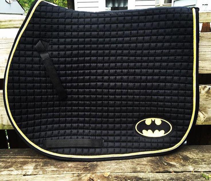 Ultimate Batman Logo Embroidered Saddle Pad