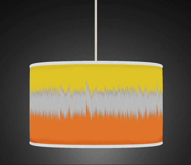 30cm Ikat gelb orange Retro handgefertigt Giclée-Style bedruckter Stoff Lampe Drum Lampenschirm oder Decke Pendelleuchte Schatten 496: Amazon.de: Beleuchtung