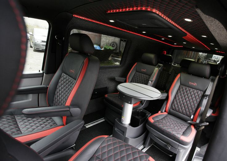 Vw transporter luxury interior sweet wheels pinterest for Vw t4 interior designs