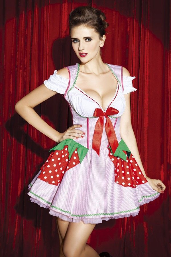 Womens Costume Maid Adult Outfit for Halloween