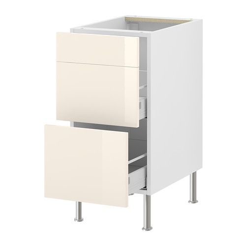 FAKTUM Base cab f waste sorting IKEA The drawers close slowly, quietly and softly thanks to the built-in dampers.