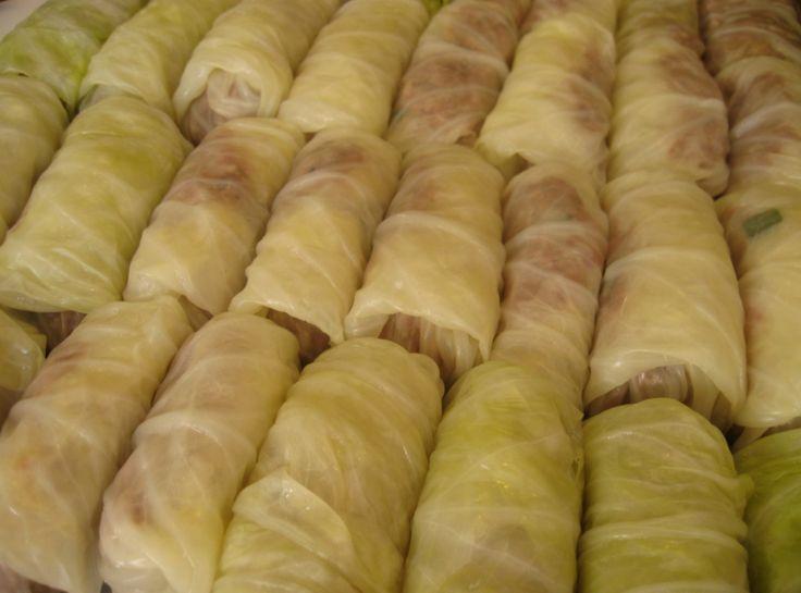 Halupki (Cabbage Rolls) - large quantity recipe for freezing