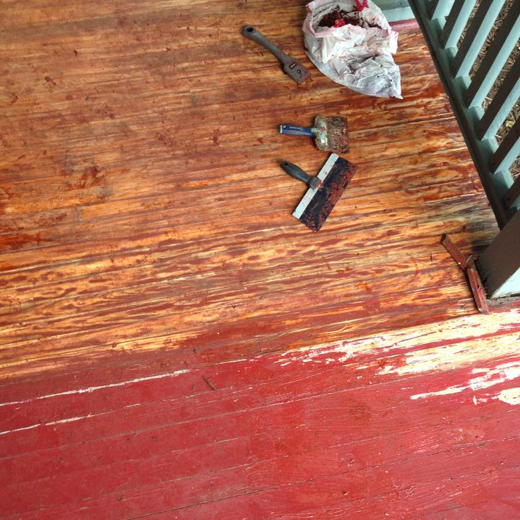 Diy remove paint refinish front porch wood flooring