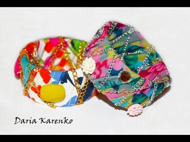 DIY Стильные браслеты из ткани. Мастер класс