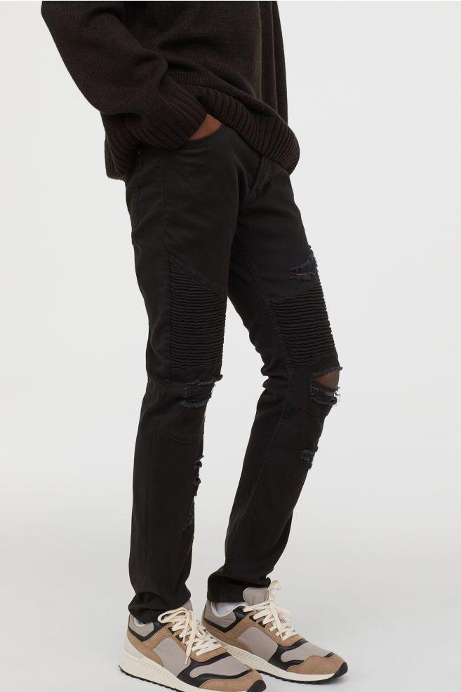 1afe3fbe600 H&M Skinny Biker Jeans - Black | stuff to buy 2 | Skinny biker jeans ...