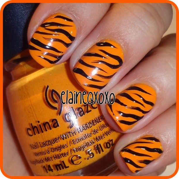 25+ Best Ideas About Tiger Nails On Pinterest