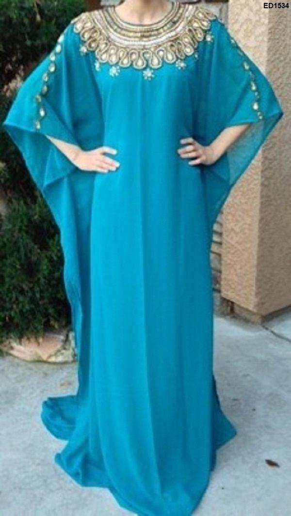 Traditional Designer Islamic Caftan Arabian Designer Asian Clothing Pakistani Woman Dress-Clothing-Nazakaqt