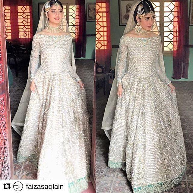 We are swooning over her look! @sajalaly looks regal in Faiza Saqlain while shooting for her project O'Rangreza  #sozkesimi #sajalaly #faizasaqlain #pishwas #humtv #orangreza #ivory #traditional #weloveher
