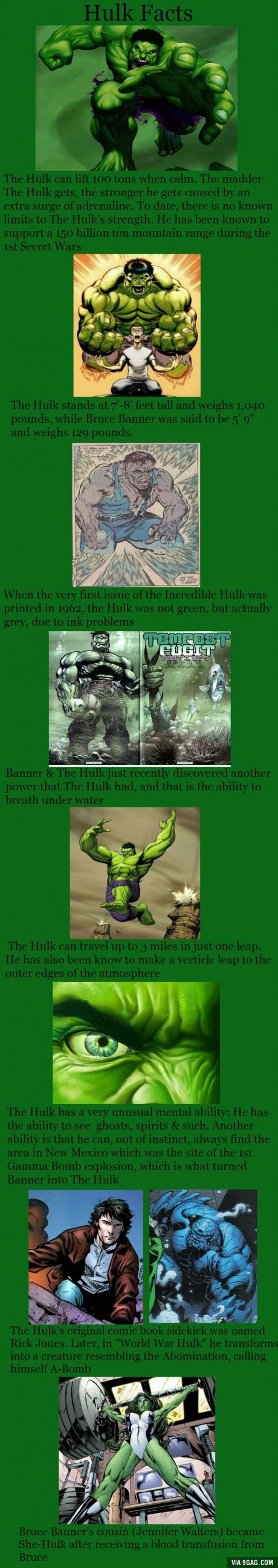 The Hulk facts