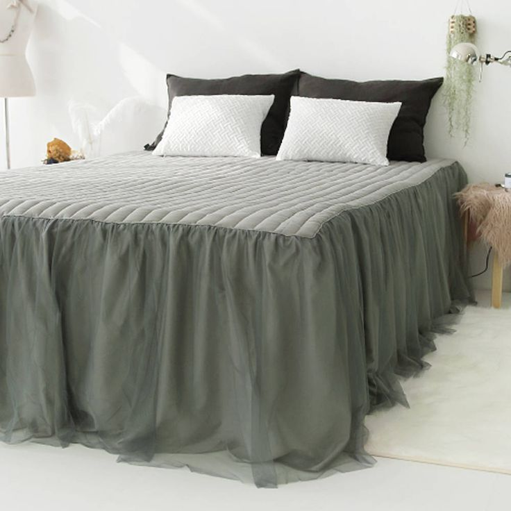 Excited to share the latest addition to my #etsy shop: Gray Bedskirt with Tutu Bedskirt Gray Sheer Draped Bedskirt Cotton Bedspread Ruffled Bedspread Cotton Bedding http://etsy.me/2CLXNV4 #housewares #bedroom #bedding #housewarming #solid #adult #yes #king #cotton