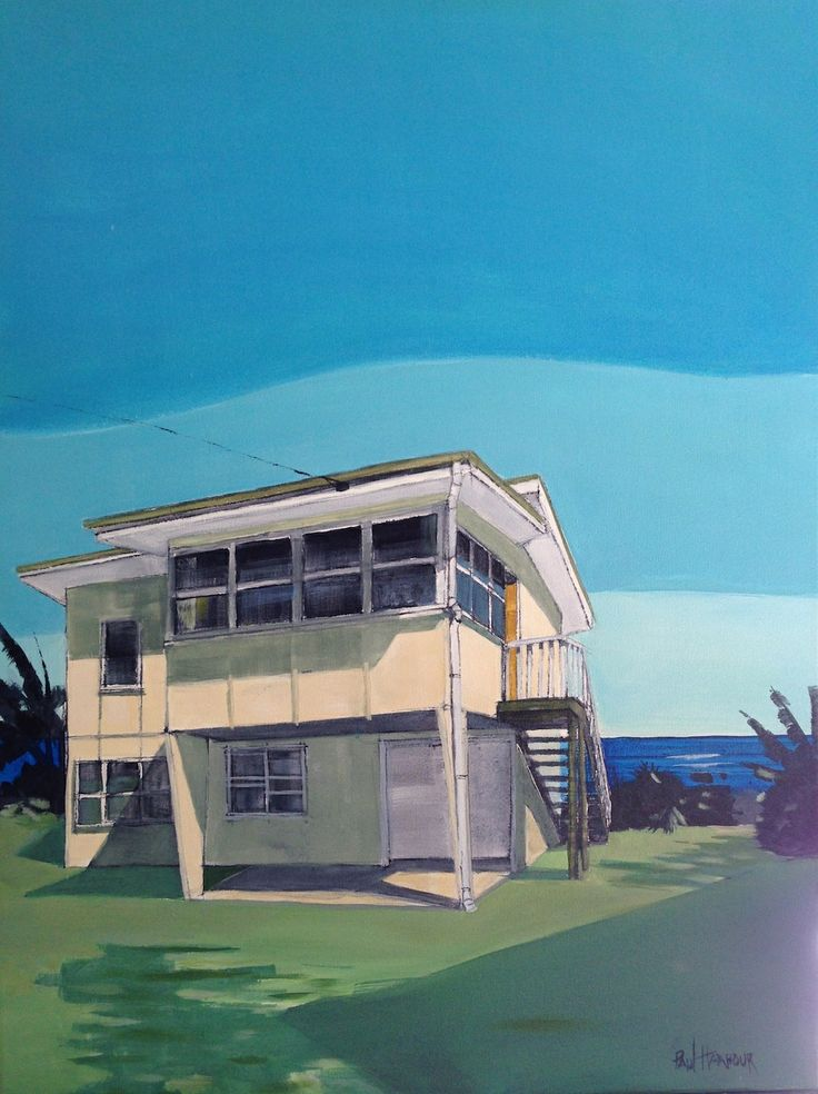 beach shack series 75x100 acryiic on canvas SOLD