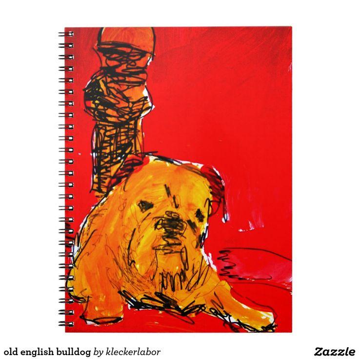 old english bulldog spiral note book