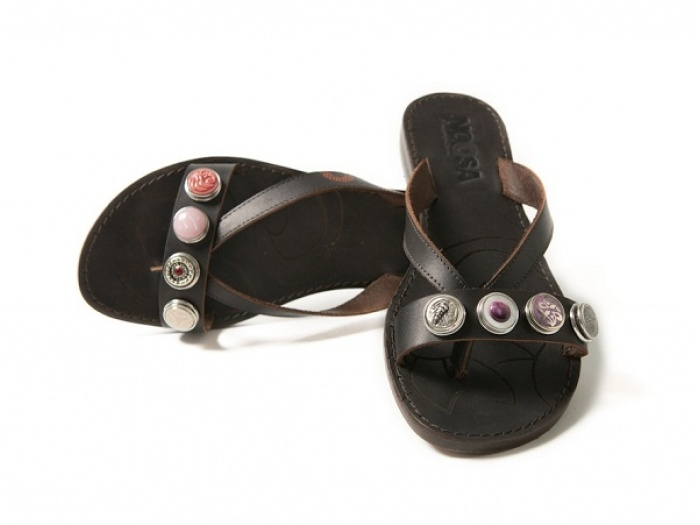 Noosa sandals, chunks are also usable on bracelets and belts by Noosa.