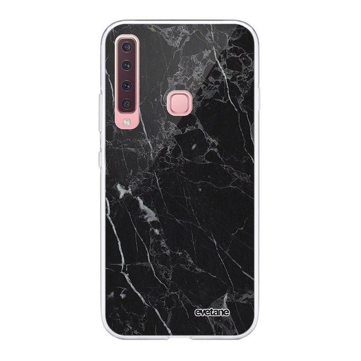 Coque Souple Samsung Galaxy A9 2018 Souple Transparente Marbre Noir Motif Ecriture Tendance Evetane – Taille : Taille Unique