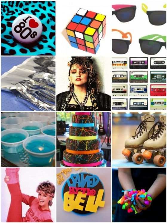 like, welcome to the 80's party inspiration from Pomp & Circumstance Event Design in Houston, Tx