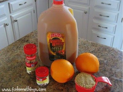 Easy Crock Pot Spiced Apple Cider - Fun Home Things