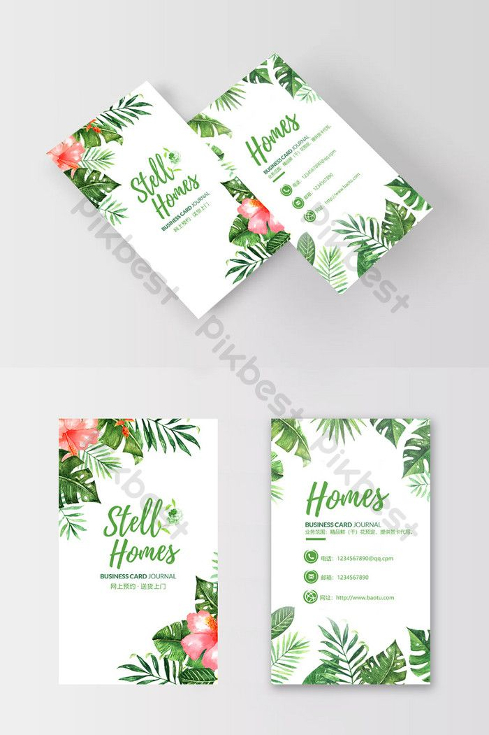 Hand Drawn Small Fresh Flowers Flower Shop Business Card Design Psd Free Download Pikbest Florist Business Card Business Card Design Business Card Design Creative