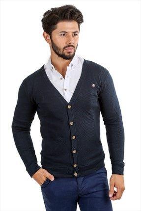 Stil Sahibi Erkekler - Lacivert Hırka WPO0915HRK002 sadece 39,99TL ile Trendyol da