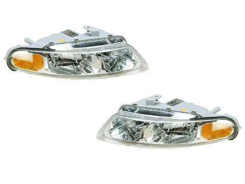 1997-2000 Chrysler Sebring 2-Door Coupe Halogen Headlights Set w/Xenon Bulbs: Passenger and driver side… #CarHeadlights #AutoHeadlights