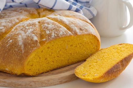 pane di zucca per Halloween
