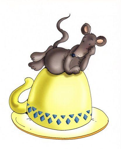 La souris est sur la tasse...