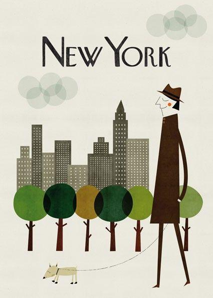 New York City: Blanca Gomez, Illustrations, Art Prints, New York, Travel Posters, Newyork, Design