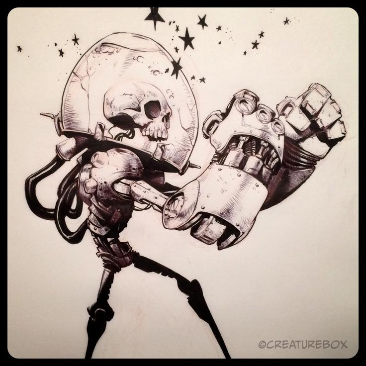 Brushes For Character Design : Creaturebox inktober day numb skull brush pen and