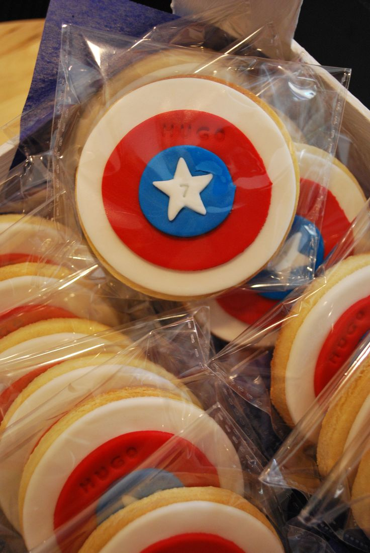 Galletas Escudo Capitan America