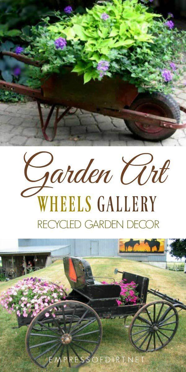 Creative Garden Art Planters With Wheels Creative