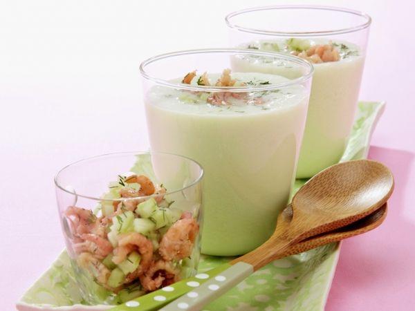 Komkommersoep met garnalen - Libelle Lekker!