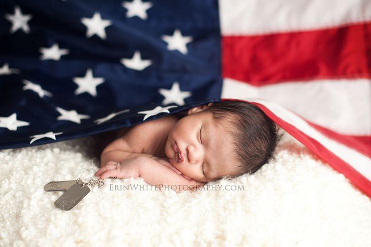 newborn military flag ideas