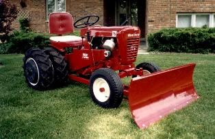 "lawn tractor dual wheels | 1963 753 Dual Wheels with 42"" dozer blade"