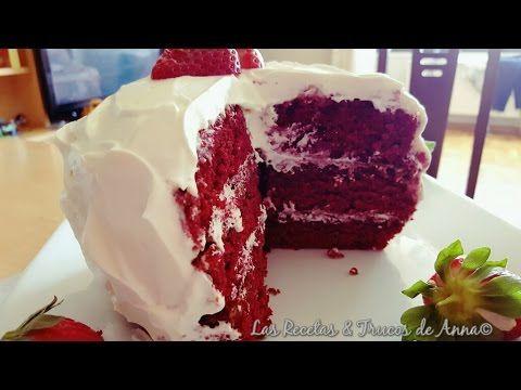 RED VELVET CAKE: tarta terciopelo rosado paso a paso | Cocina