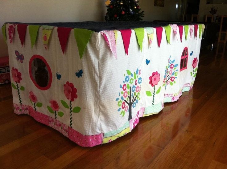 More of the cubby house pool table cover Made by Kathleen Laing