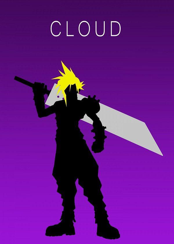 Minimalist Cloud By Apo Geesus Metal Posters Final Fantasy Vii