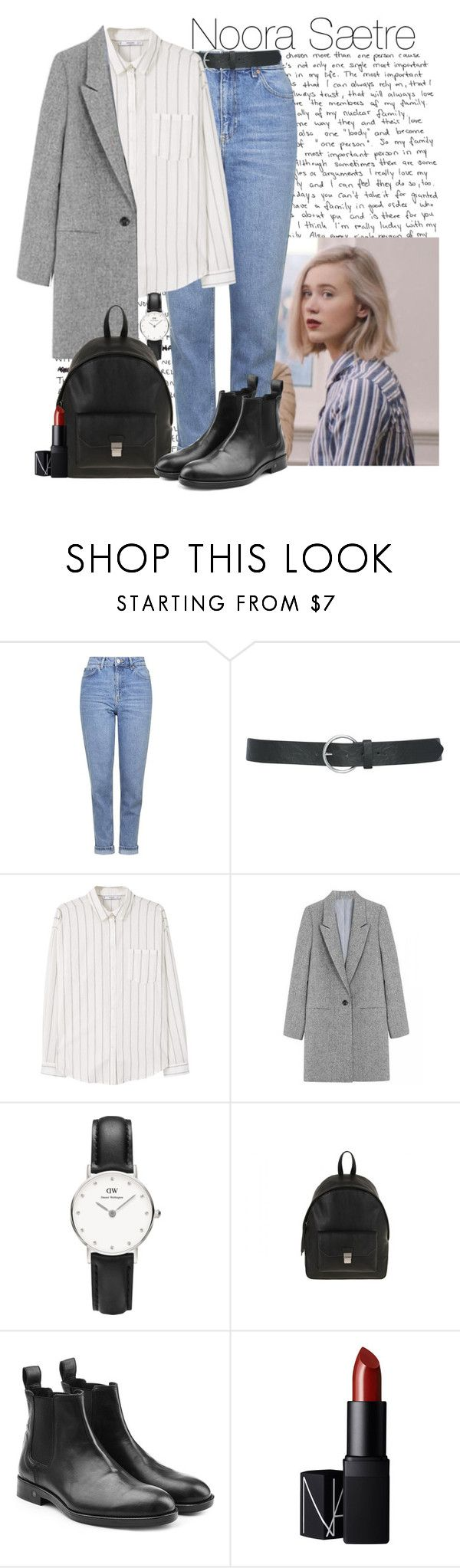 """Noora's style"" by ara1ka ❤ liked on Polyvore featuring Topshop, M&Co, MANGO, Daniel Wellington, Zadig & Voltaire and NARS Cosmetics"