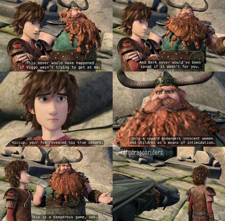 I love the father-son talks Hiccup and Stoick have in Race