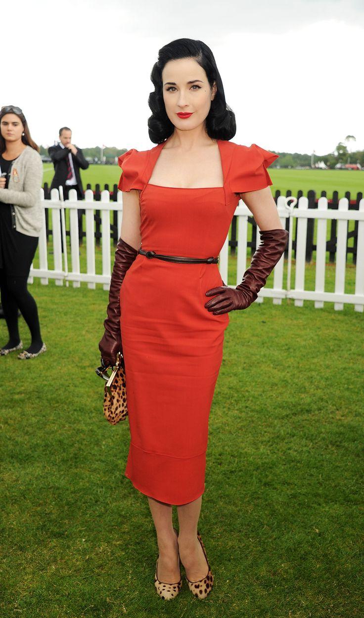 Dita Von Teese attends Cartier Queen's Cup Final