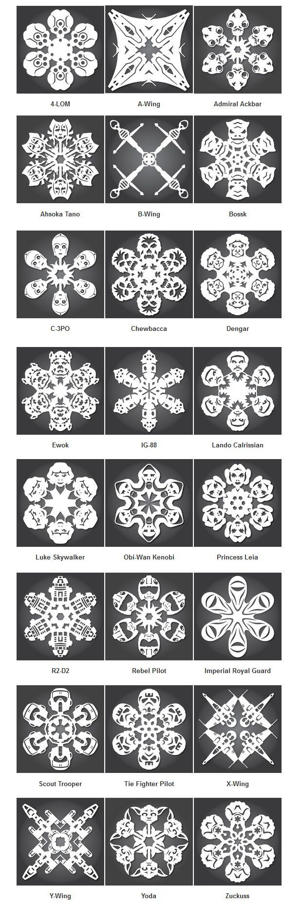Make Your Own Star Wars Snowflakes!