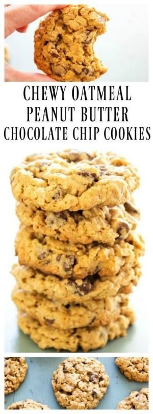 CHEWY OATMEAL PEANUT BUTTER CHOCOLATE CHIP COOKIES by cmyk