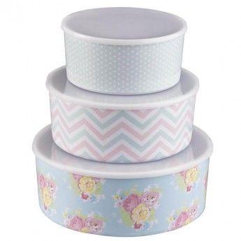 Sweet Melody Melamine Storage Bowls (set of 3)