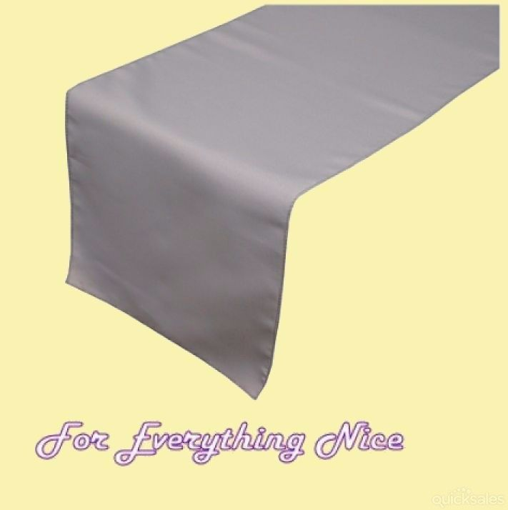 Silver Polyester Wedding Table Runners Decorations x 5 For Hire by J7339 - $30.00